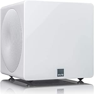 SVS 3000 Micro Subwoofer (Piano Gloss White)   Active Dual 8-in Drivers, 800 Watt RMS, Sealed Cabinet