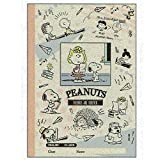 Sun-Star Stationery Craft Notebook for English Practice (B5 /White) [Snoopy/School time] (Japan Import)