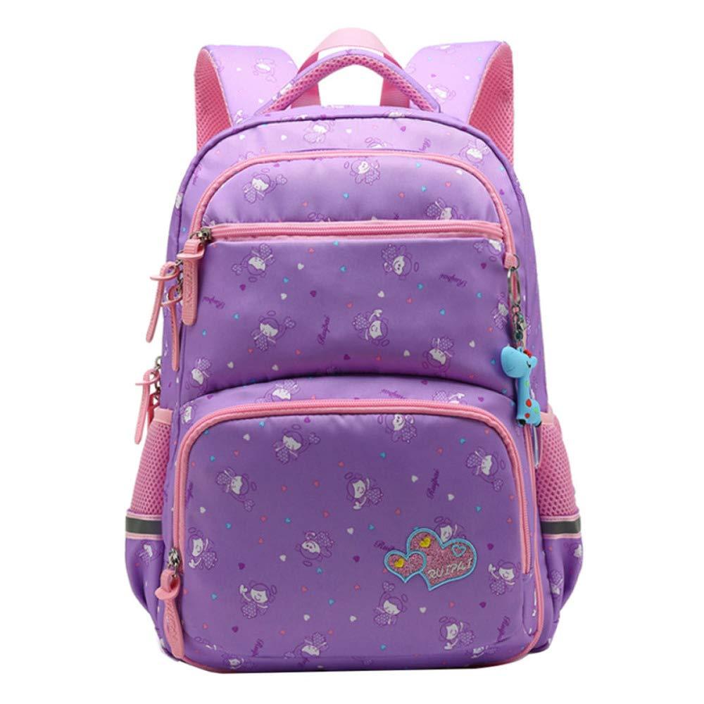 violet S SEJNGF Sac D'école Pour Enfants 1-6 Grade Imperméable à L'eau Grande Capacitéétudiant