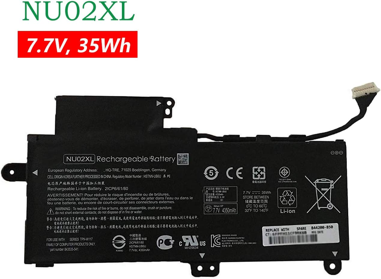 BOWEIRUI HSTNN-UB6U (7.7V 35Wh 4350mAh) Laptop Battery Replacement for Hp Pavillion X360 M1 M1-u001dx Series NU02XL 843535-541 844200-850 HSTNN-UB6V HSTNN-UB6U TPN-W117