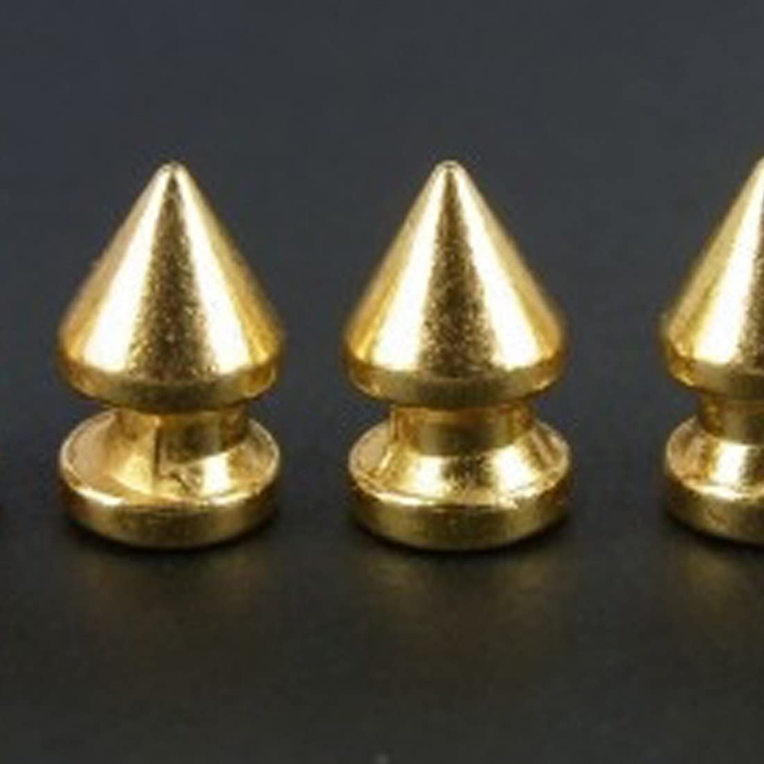 RUBYCA 12MM 20 Sets Metal Tree Spikes and Studs Metallic Screw-Back for DIY Punk Leather-Craft Black