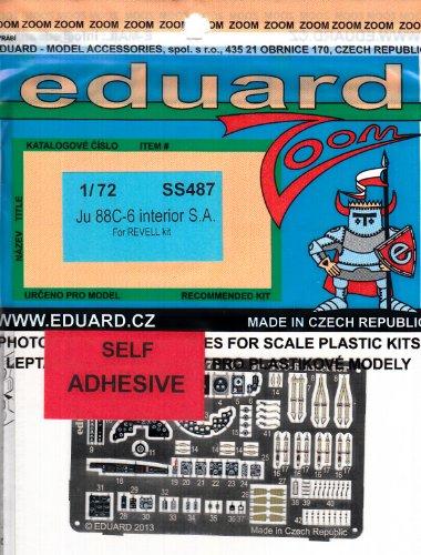 1:72 Eduard Photoetch Kit Zoom Ju 88c6 Interior Self Adhesive -  EDUSS487