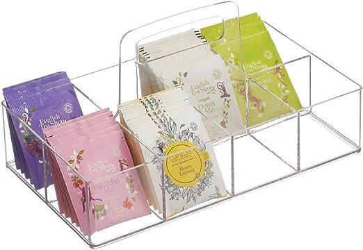 mDesign Caja de té portátil para el Armario o la encimera ...
