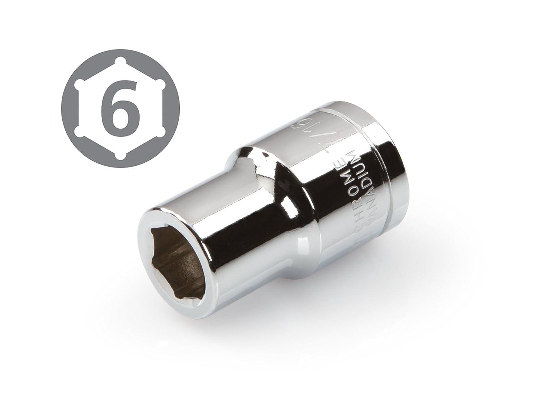 Cr-V 6-Point TEKTON 14134 3//8-Inch Drive by 5//8-Inch Shallow Socket