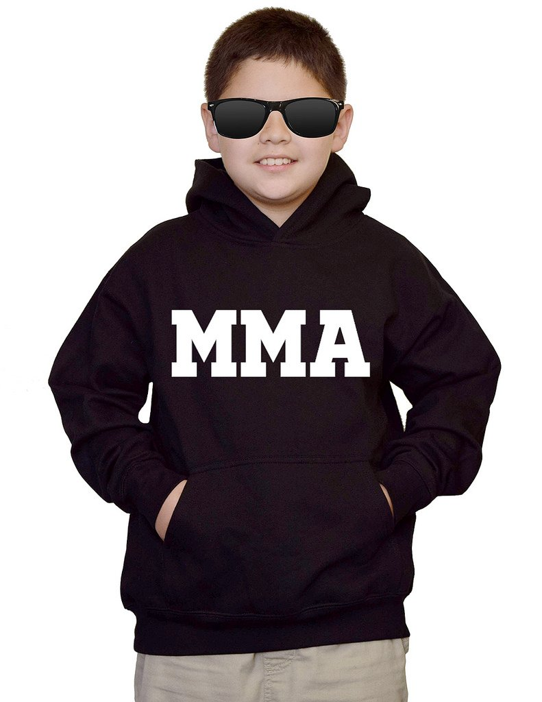 Youth MMA Mixed Martial Arts V441 Black kids Sweatshirt Hoodie Small