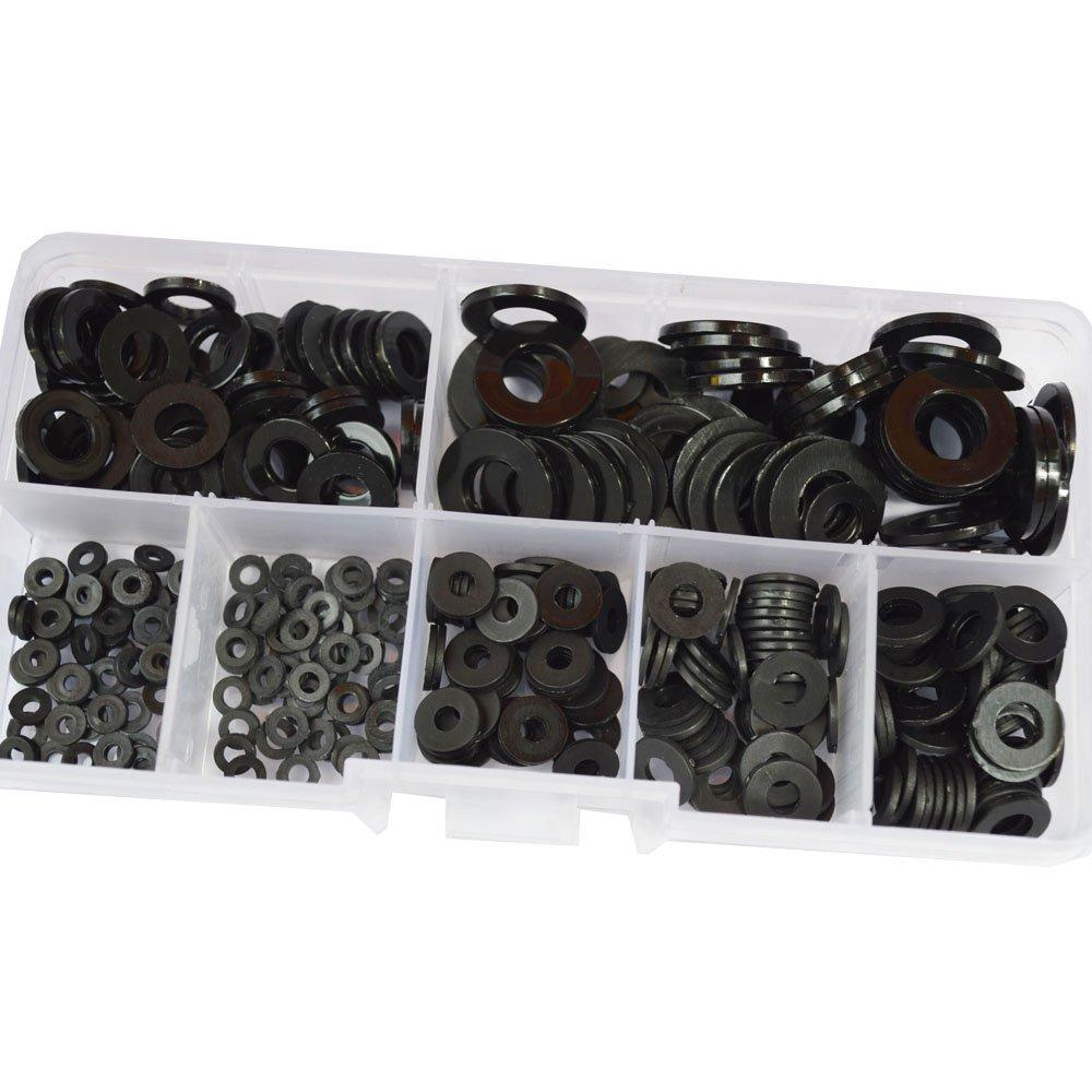 Zyj stores Flat Washers 1000pcs M361 Nylon Flat Washer DIN125 Plastic Plain Washer Spacer Seals Ring Gasket NL66 Stainless Flat Washer