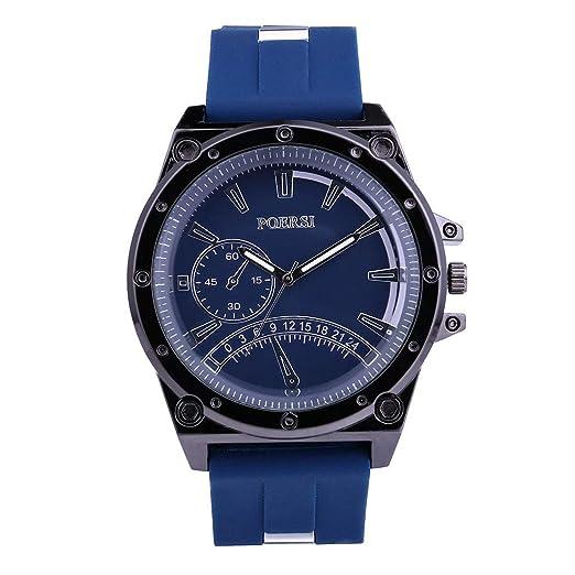 e59be5f6aed7 DAYLIN Relojes Hombre Deportivos Reloj Pulsera Actividad Correa Silicona  Reloj Militar de Cuarzo Analogico Hombre Sports Wrist Watch Men  (Azul Negro)  ...