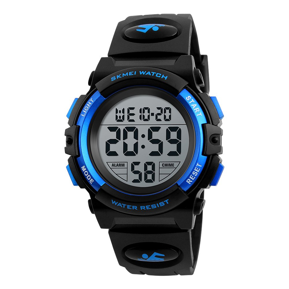 Boys Watches Sport Waterproof Digital Wristwatch for Boys Age 8+ (Blue) by PASNEW