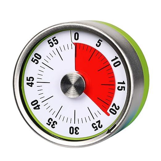 AIMILAR - Temporizador de cocina mecánico pequeño, temporizador de ...