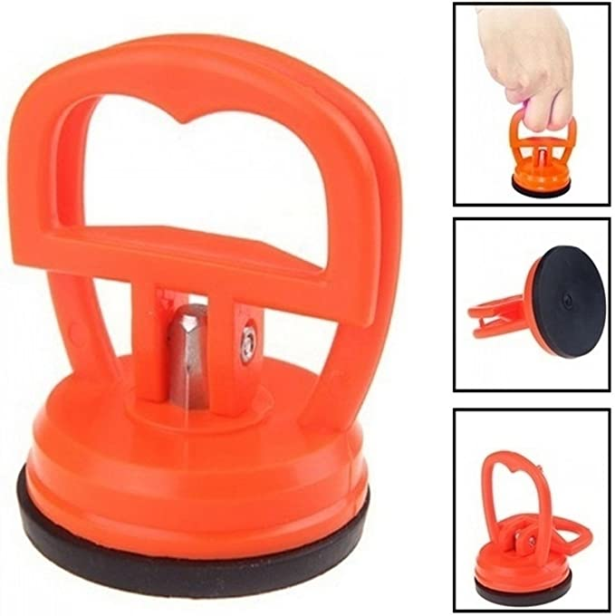 TOSSPER 1 Pi/èce Orange Dent Extracteur Carrosserie Panel Moms Assistant Maison Remover Outils Carry Voiture Ventouse en Verre Pad Lifter