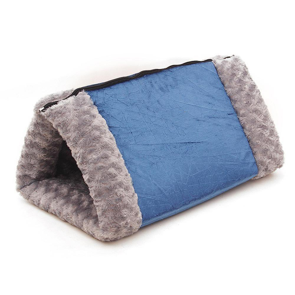 A WUTOLUO Pet Bolster Dog Bed Comfort Triangle foldable Cat Litter Kennel dual-use, (color   A)