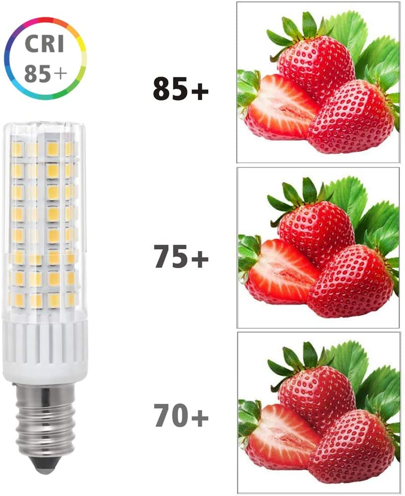 75W 100W Halogen Bulbs Replacement 7.5W Daylight 6000K E14 LED Light Bulbs 930LM Mini Candelabra E14 Base JD T3//T4 7.5W Daylight White 6000K Indoor Decorative Lighting