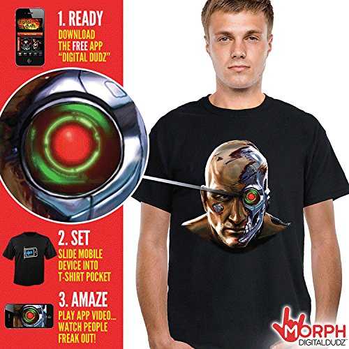 Halloween Costumes For Less Than 20 (Morphsuits Men's Digital Dudz Cyborg Shirt Halloween, Black, XX-Large)