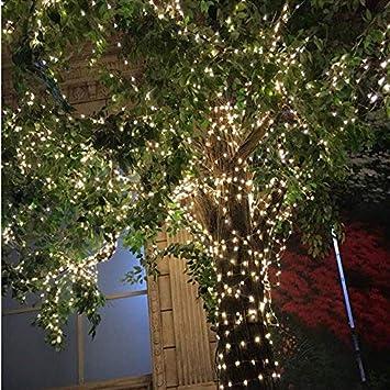 Dormitorio Vikdio Waterproof 100 Leds Starry Lights 8 Modos de Pilas Luces de Cuerda Cobre Alambre para DIY Wedding Party 2Pack 33Ft Patio Fairy String Lights con Control Remoto, Blanco c/álido