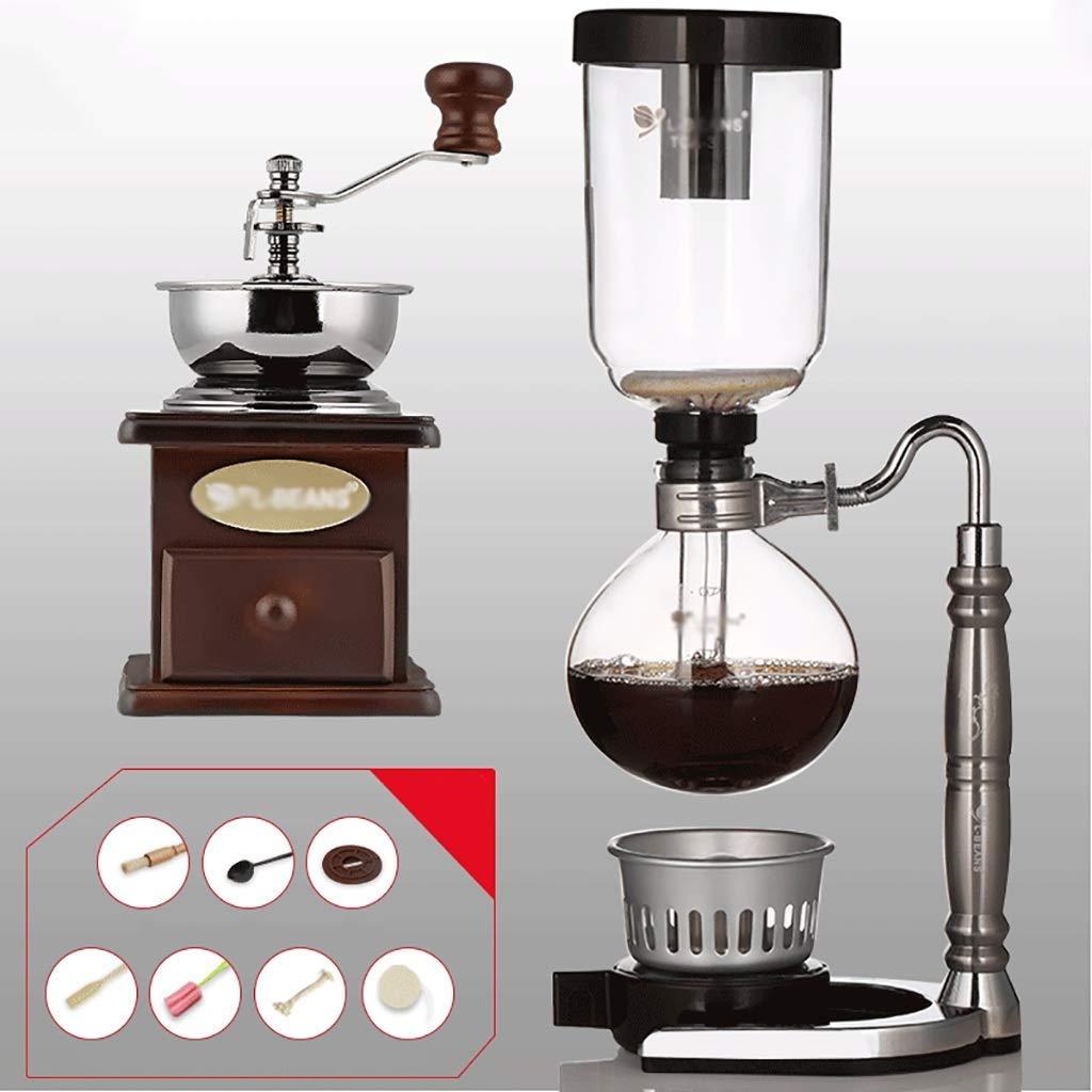 Acquisto Sifone Caffettiera Set caffè Sifone Technia fumoso Totem zodiacato Sifone pentola caffettiera 3 Tazze, 110 * 352mm Vacuum Coffee Makers Prezzi offerta