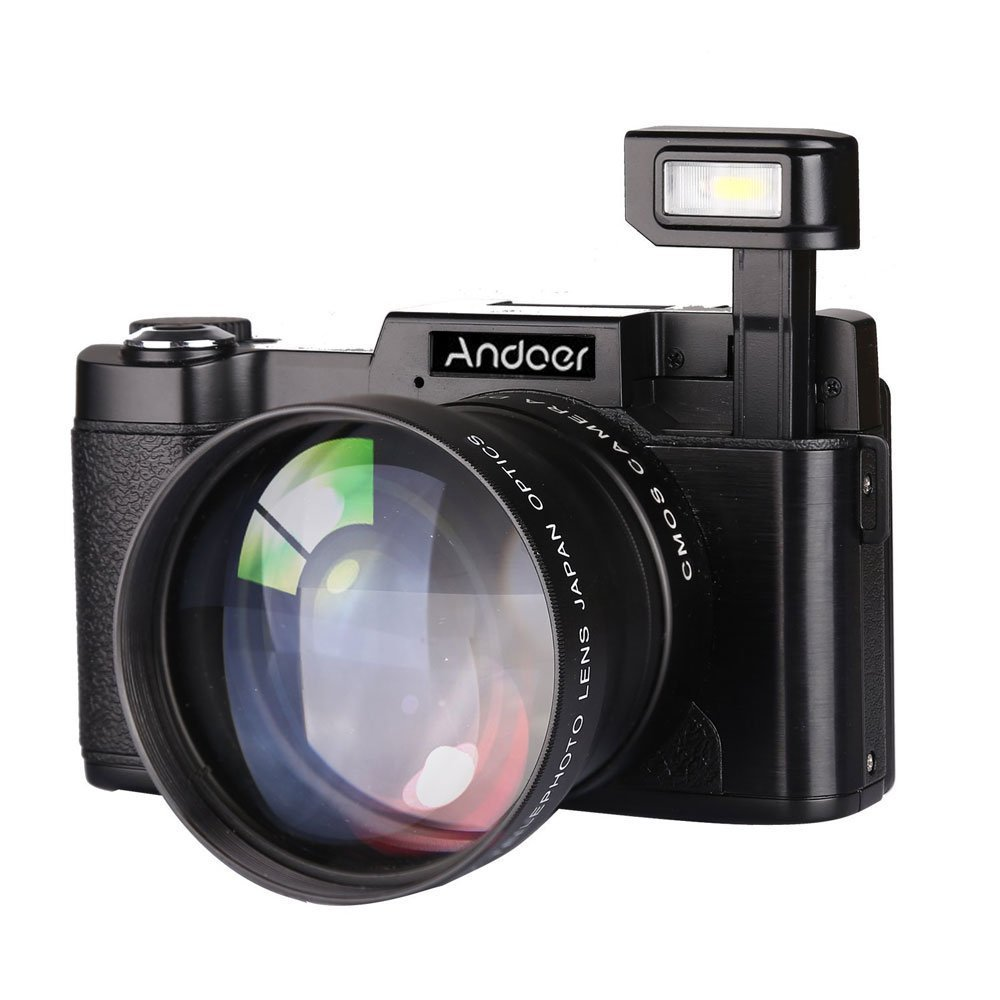 Andoer Cdr2 Digital Camera Black 3.0-Inch 1080P 15Fps 24Mp