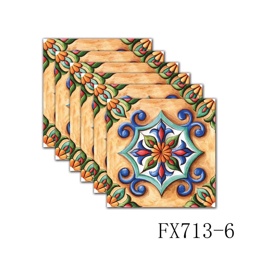 Amazon.com: 6 pegatinas geométricas autoadhesivas para ...