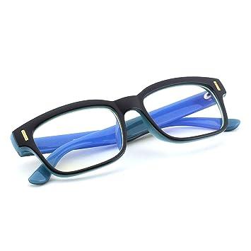 db2dc02cc9 CGID CT84 Gafas para Protección contra Luz Azul, para Computadora, Lectura,  Video Juegos, Protección de Fatiga Visual y contra Rayos UV,Rectángulo  Vintage, ...
