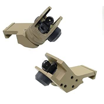 Metal Airsoft Rear Canted Offset Iron Sight Fits 20mm Rails: Amazon