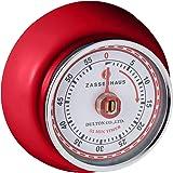 Zassenhaus Magnetic Retro 60 Minute Kitchen Timer, 2.75-Inch, Red