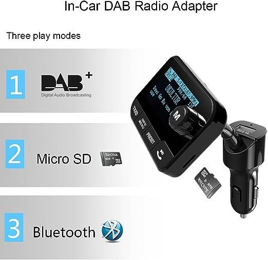 Blufree Car Dab Digital Radio Adapter Fm Transmitter Elektronik
