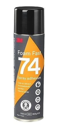 3M Spray Adhesivo 74 Rápido para Espuma, 500 ml, 1 unidad