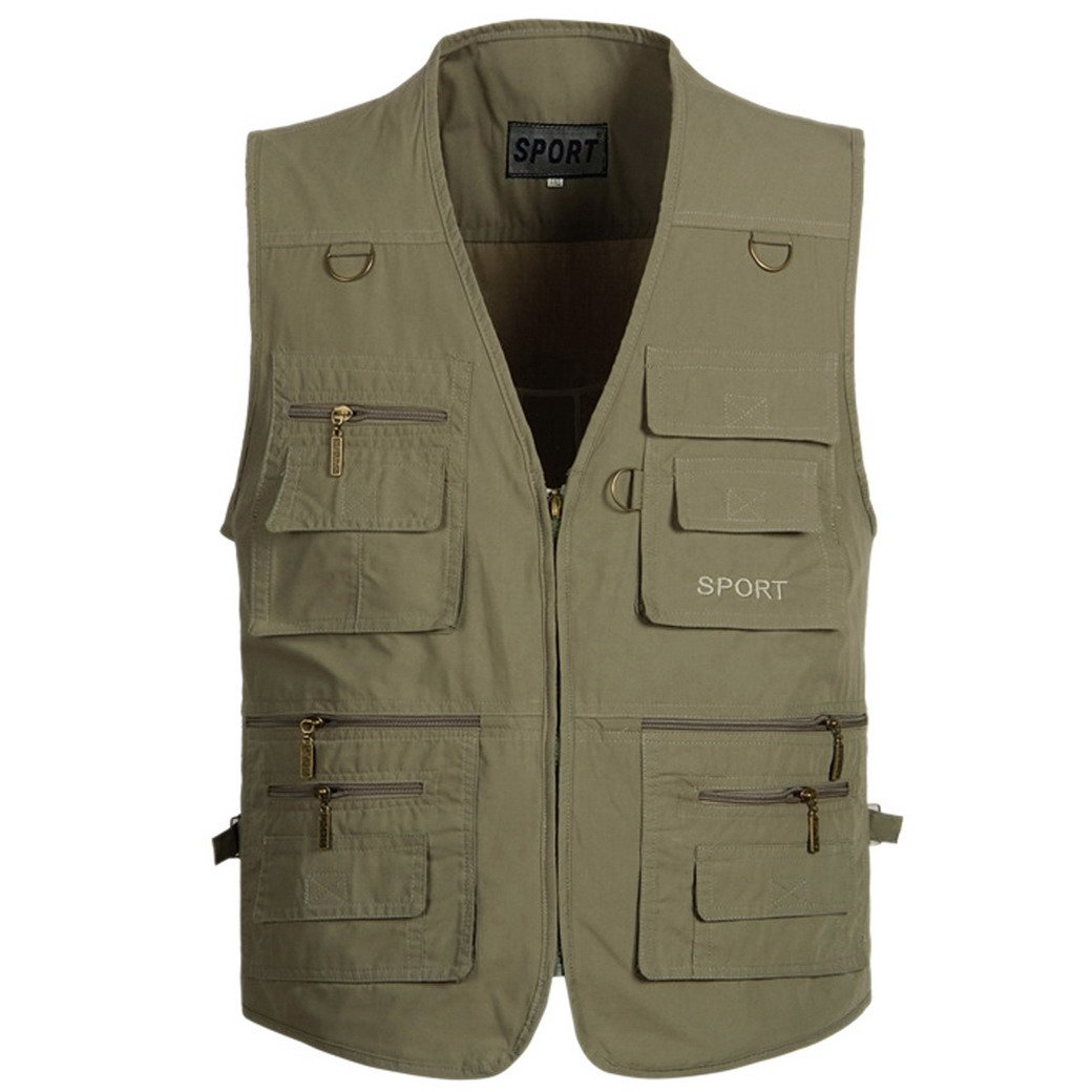 Mens Oversize Travels Sports Hunting Pockets Outdoor Vest Panegy