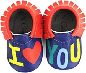 Splish Splash /• 100/% American Leather Moccasins for Babies /& Toddlers /• Made in US