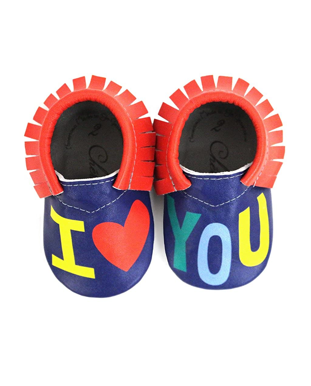 I Heart You Moccasin • 100% American leather moccasins for babies & toddlers • Made in US CS000036