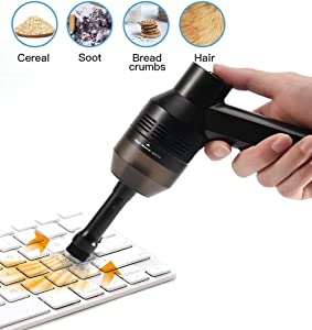 Z·Bling Keyboard Cleaner Powerful Rechargeable Mini Vacuum Cleaner,Cordless Portable Vacuum-Cleaner Tool for Cleaning Dust,Hairs,Crumbs,Scraps for Laptop,Piano,Computer,Car,Makeup Bag,Pet House