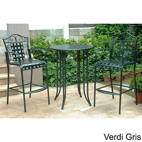3-piece Bistro Set with 2 Bar Chairs and a Table. Four Di...