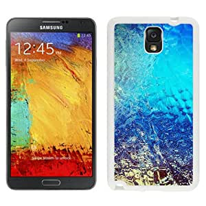 New Pupular And Unique Designed Case For Samsung Note 3 With Abstract Blue Dew Window Art Background White Phone Case