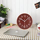 KAMEISHI 8 Inch Wood Table Clocks Battery