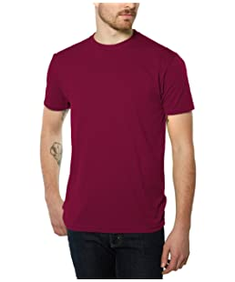 Nayked Apparel Men's Night & Day Crew T-Shirt, Cardinal, X-Small