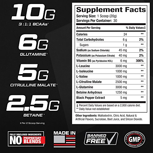 BCAA-Elite-Amino-Acids-Post-Workout-Recovery-BCAA-Powder-with-Glutamine-Train-Harder-Recover-Faster-Build-Muscle-Mass-Best-Bodybuilding-Branched-Chain-Amino-Acid-Supplement-for-Men-Women