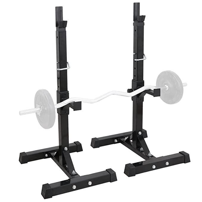 Amazon smartxchoices set of barbell squat rack stand