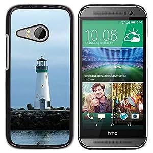 TopCaseStore / la caja del caucho duro de la cubierta de protección de la piel - Lighthouse Lonely Lighthouse - HTC ONE MINI 2 / M8 MINI