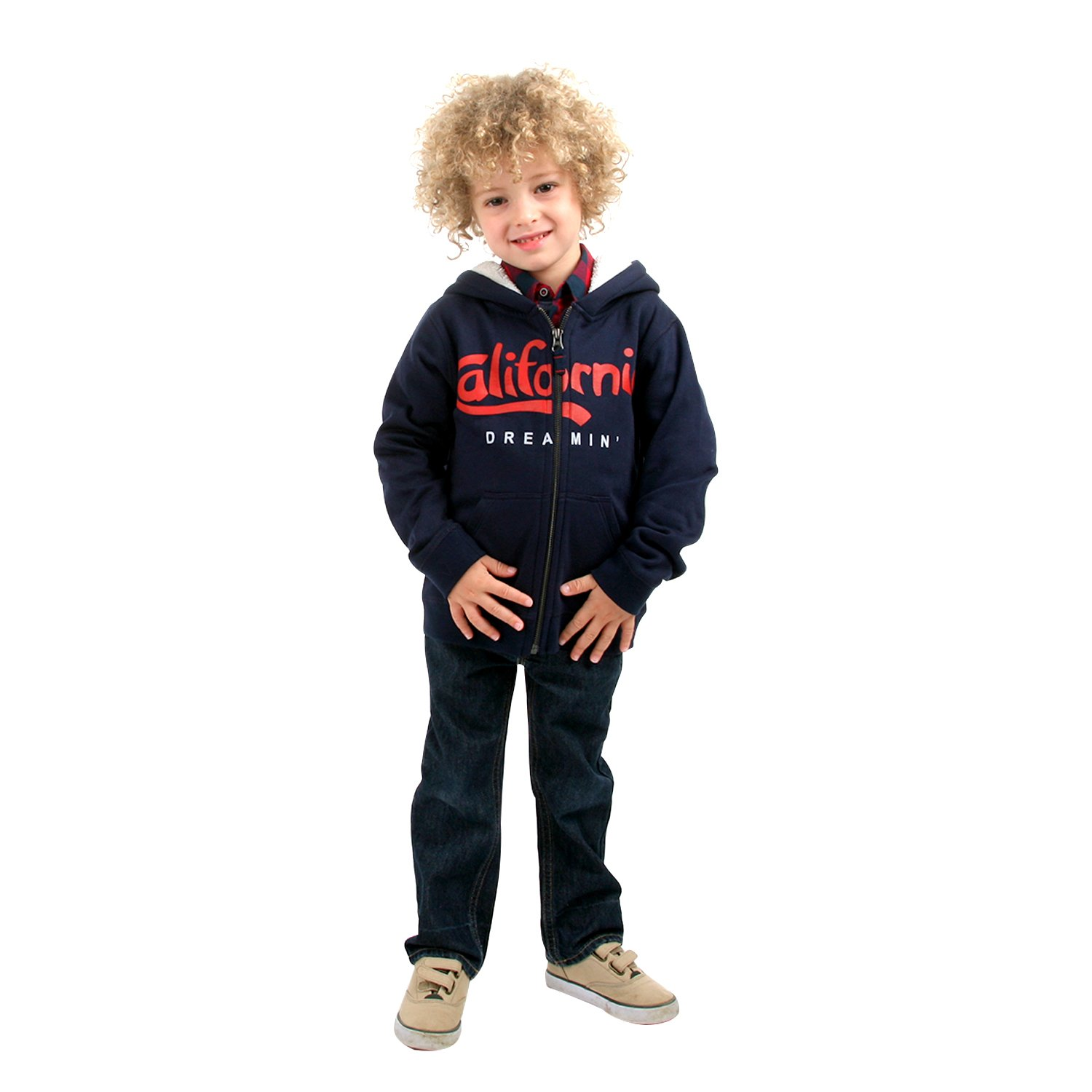 cherry crumble california Super-Soft Fleece Zip-Up Hoodie for Boy
