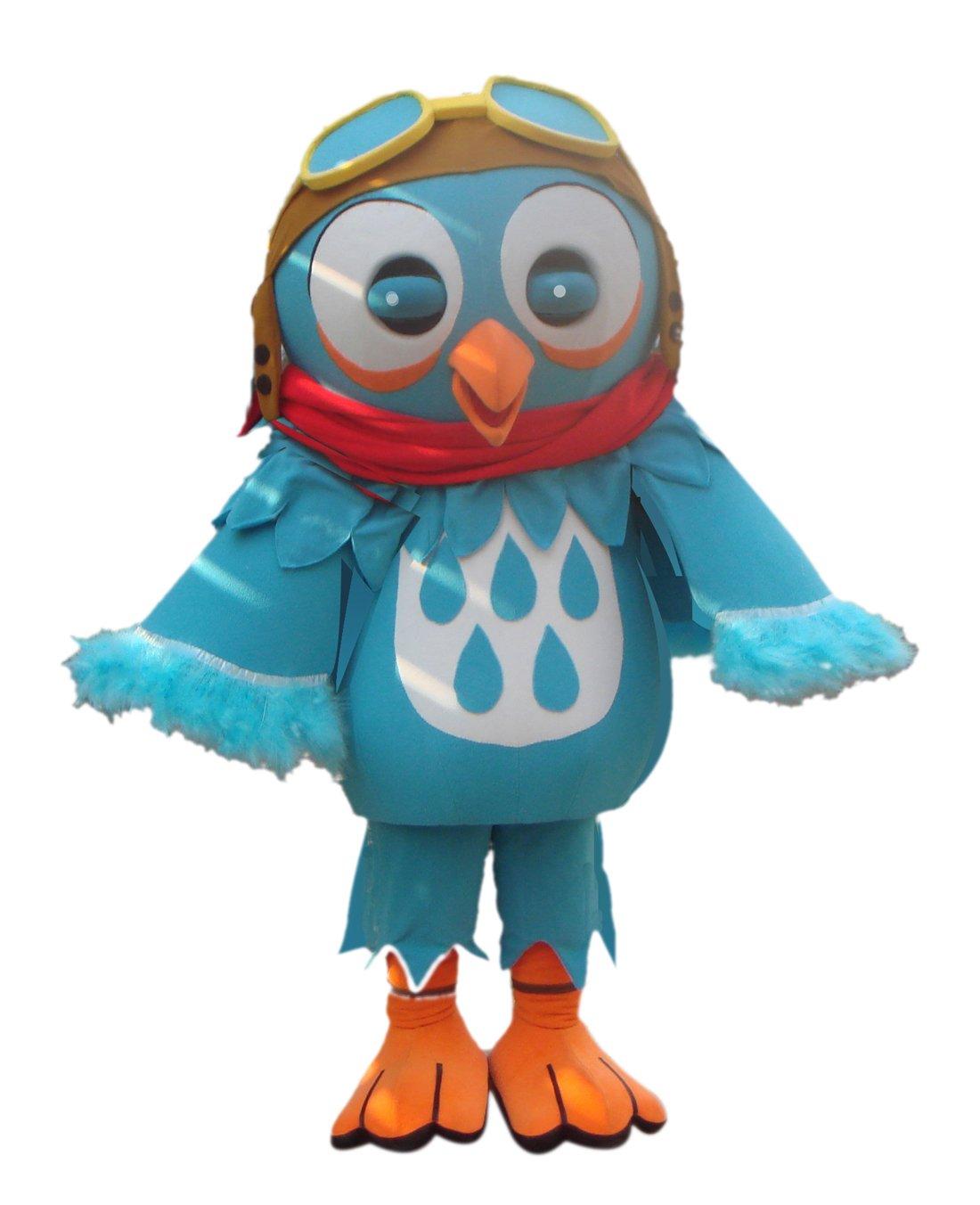 CostumeShine Blue Bird Mascot Costume with Glasses by CostumeShine