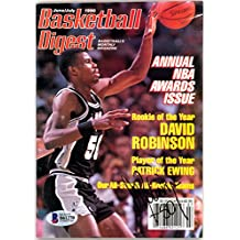 David Robinson Autographed Basketball Digest Magazine San Antonio Spurs Beckett BAS #B61270