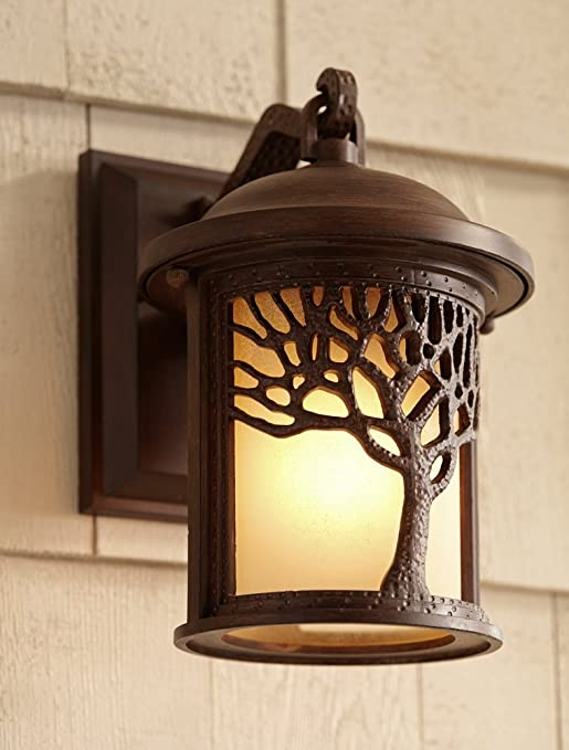 Bronze Mission Style Tree 9 12 High Outdoor Wall Light Wall