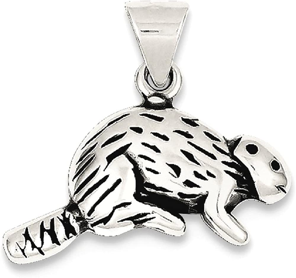 925 Sterling Silver Beaver Pendant Charm Necklace Animal Wild Fine Jewelry For Women Gifts For Her