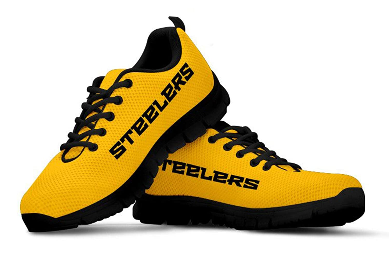 2a57d127ac2b Amazon.com   Pittsburgh Steelers Themed Casual Athletic Running Shoe Mens  Womens Sizes Steeler Apparel and Gifts for Men and Women   Sports   Outdoors