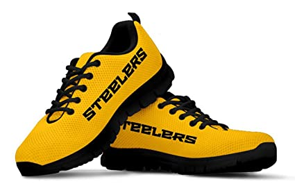 innovative design 0efab c52b8 Pittsburgh Steelers Themed Casual Athletic Running Shoe Mens Womens Sizes  Steeler Apparel and Gifts for Men and Women