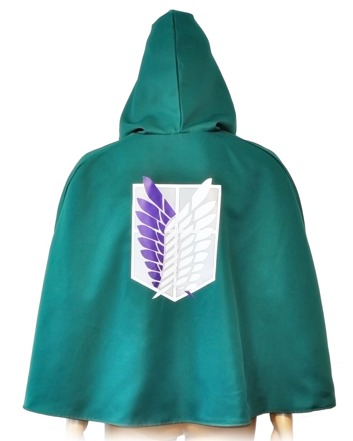 COSAUG Attack on Titan Costume Japanese Anime Cosplay Cape Green with Double Lining (M)