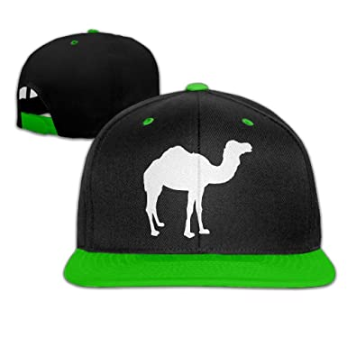 Camel Men s Adjustable Snapback Hip Hop Dad Hat Cap Flat Brim KellyGreen Baseball  Cap for Men e06cc44a5c8