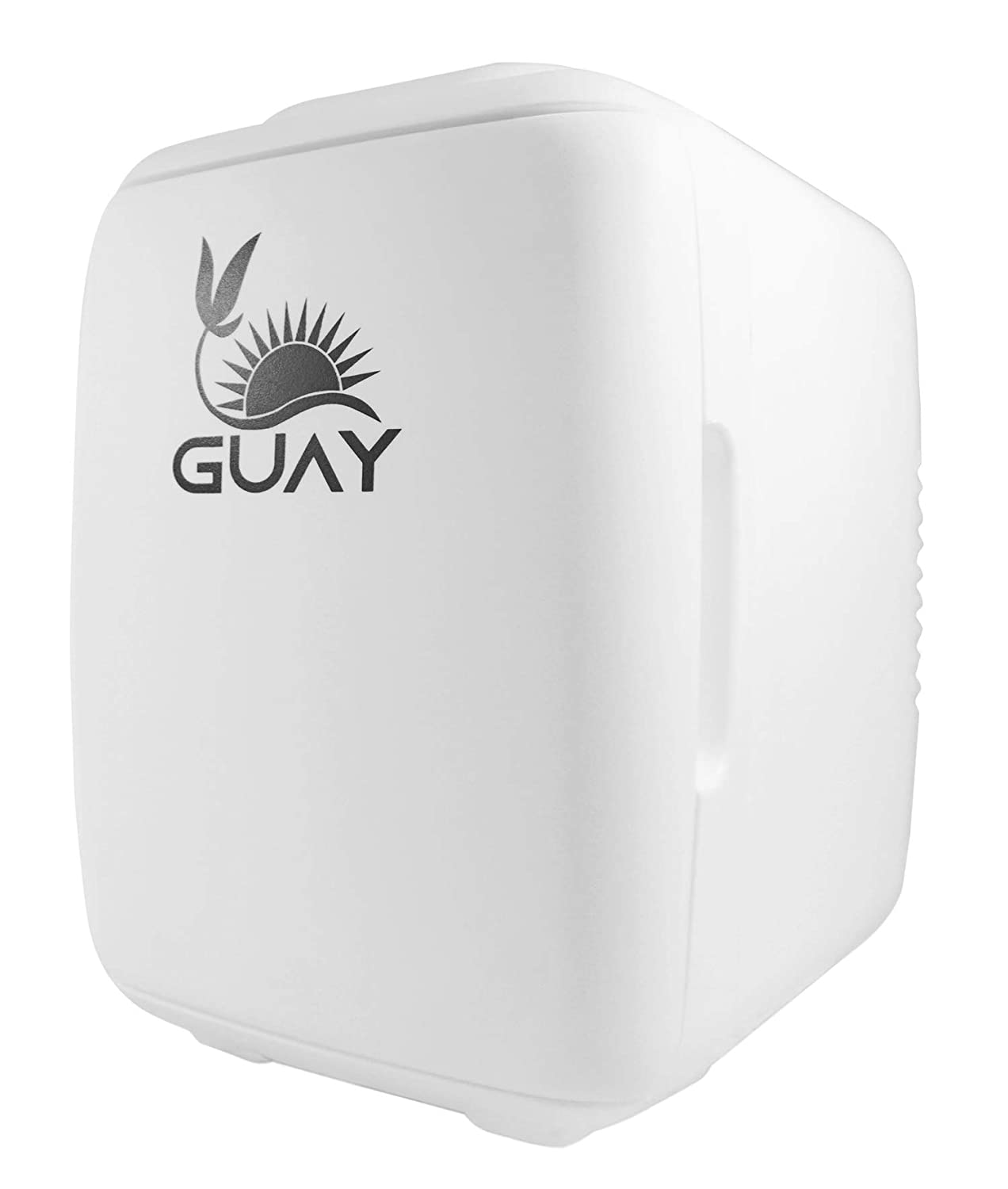 Guay Outdoors Portable Thermoelectric Mini Fridge Cooler and Warmer – 4 Liter/6 can. AC/DC Great for Car, Travels, Dorm, Camping and Bedroom - White