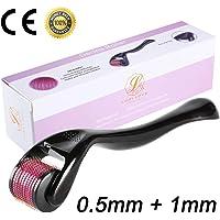 LUOLLOVE® Dermaroller,540 Titanio Micro Rodillo Agujas para Cuidado de la Piel, Antienvejecimiento