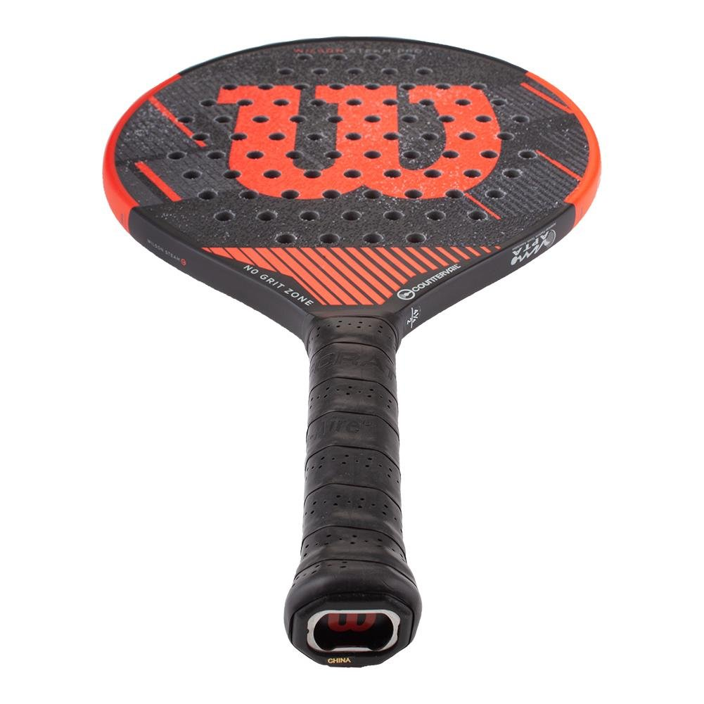 Amazon.com : Wilson Steam Pro Countervail Platform Tennis Paddle : Sports & Outdoors
