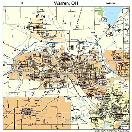 Amazon Com Large Street Road Map Of Warren Ohio Oh Printed